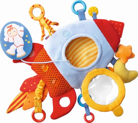 "Haba Cuddly Playing Cushion ""Rocket"" - * Haba Teether Cuddly ""Rocket"" – This articles includes a teething component and provides a lot to discover."