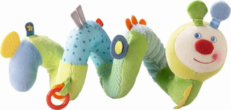 "Haba Spring Worm Activity Spiral - * Haba Activity Spiral ""Spring worm"" – This article has loads of exciting elements to discover and is perfect for infant carriers and baby beds."