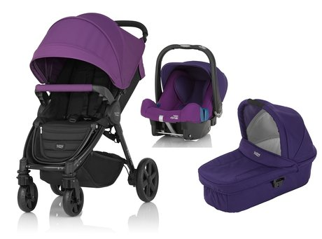 Britax B-Agile 4 Plus incl. Canopy Pack + carrycot + infant carrier Mineral Lilac 2017 - large image