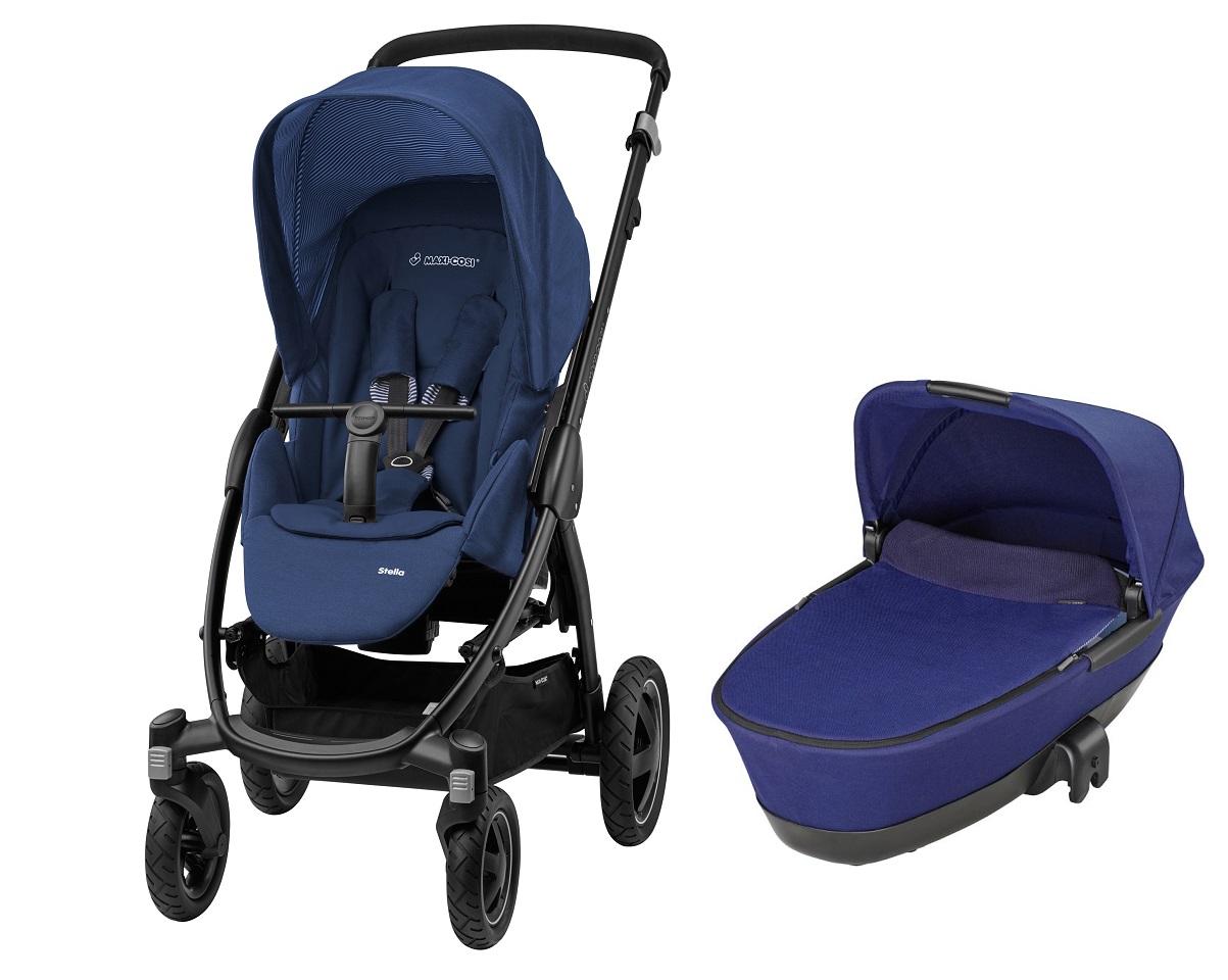 maxi cosi stella including carrycot dreami 2016 river blue buy at kidsroom strollers. Black Bedroom Furniture Sets. Home Design Ideas