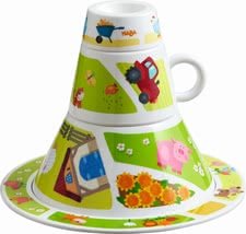 "Haba Stacking Dish Set ""On the Farm"" - * Haba tableware tower ""On the Farm"" – A great picture will be created when you child puts together this tableware tower by Haba."