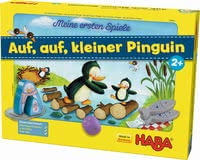 "Haba My First Games ""Let's Go, Little Penguin"" - * Haba My first games ""Let's go, little penguin"" – A cute cube game with large wooden figures."