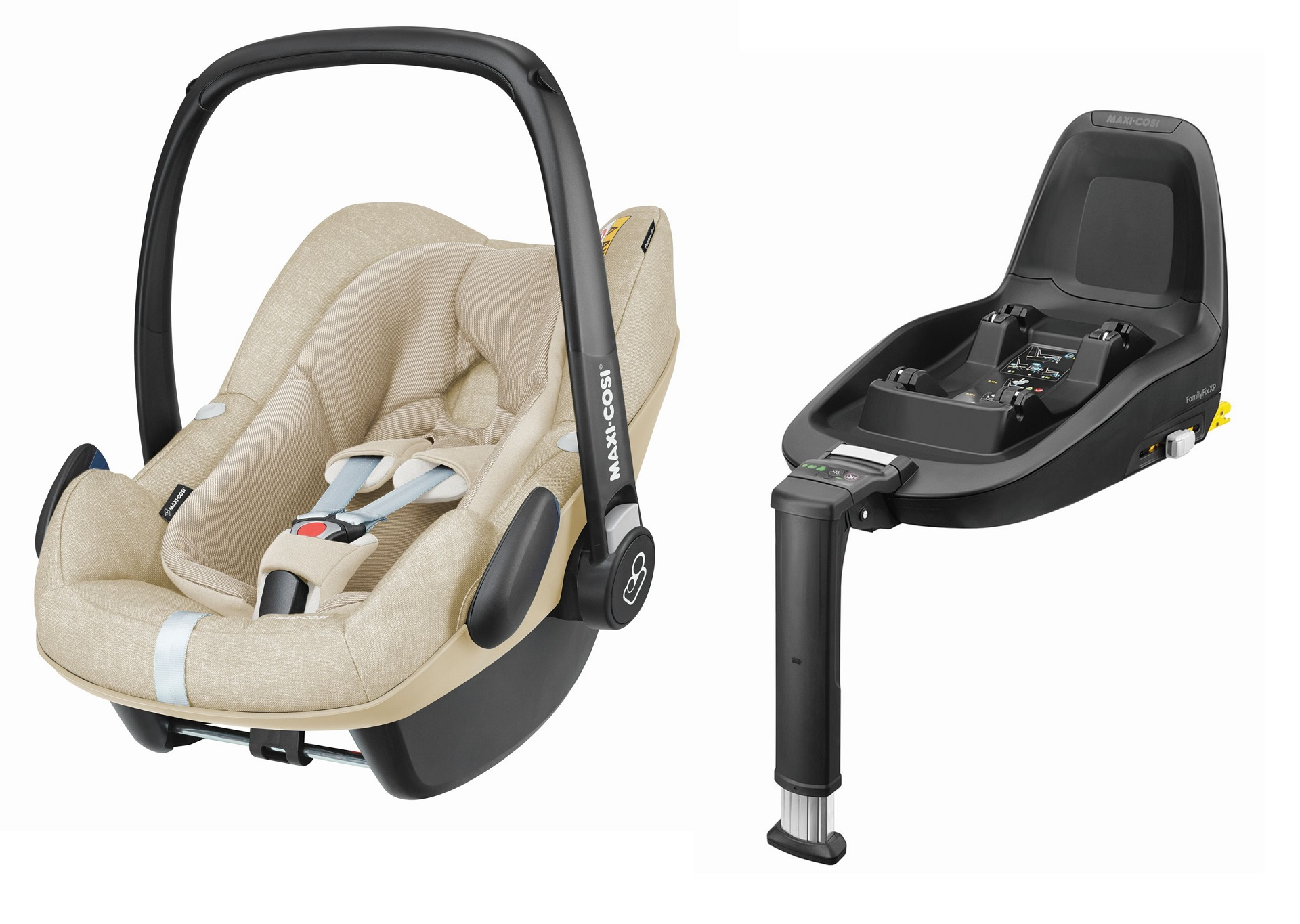 maxi cosi infant car seat pebble plus including 2wayfix 2018 nomad sand buy at kidsroom car. Black Bedroom Furniture Sets. Home Design Ideas