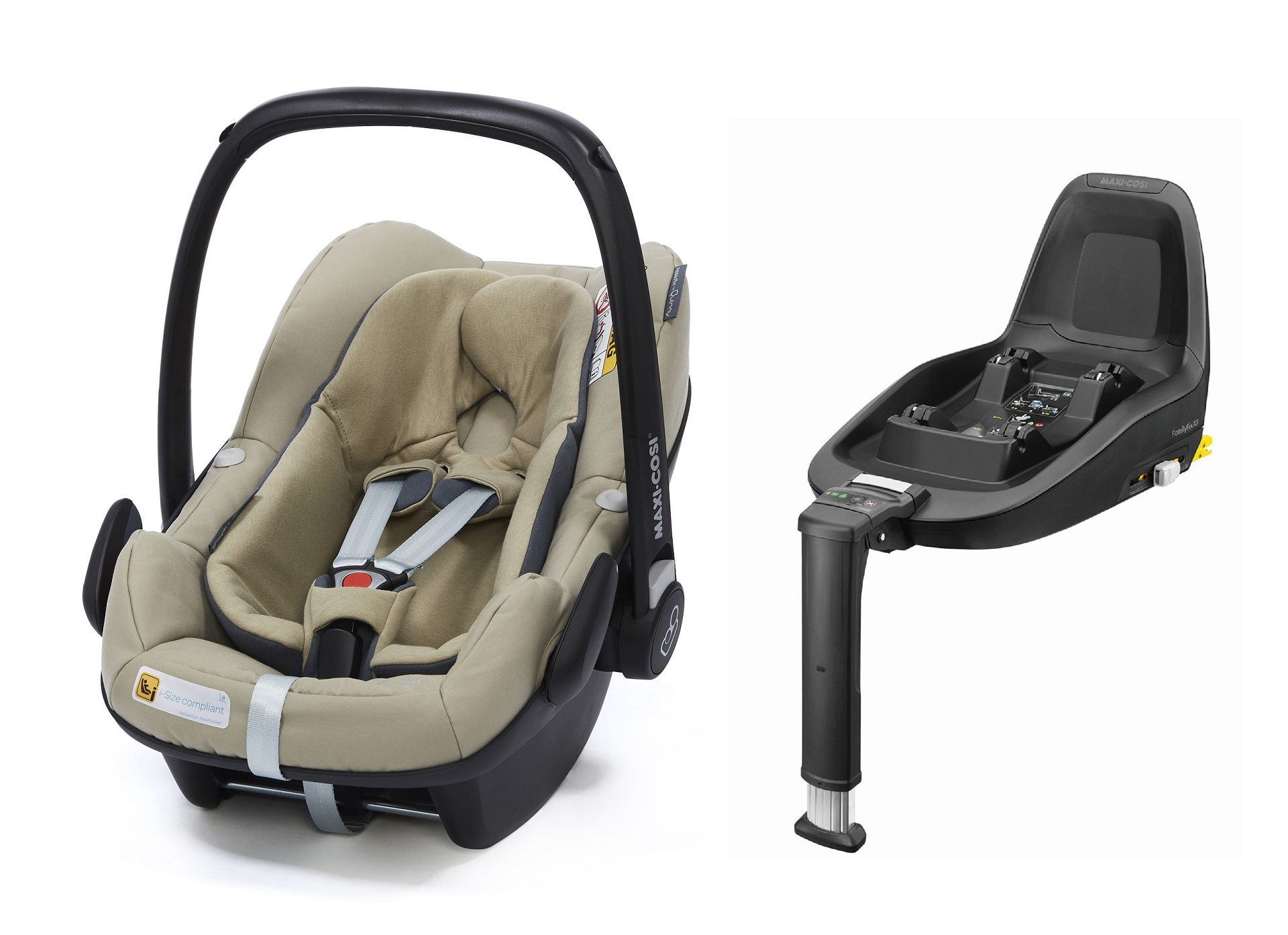 maxi cosi infant car seat pebble plus including 2wayfix 2018 sand buy at kidsroom car seats. Black Bedroom Furniture Sets. Home Design Ideas