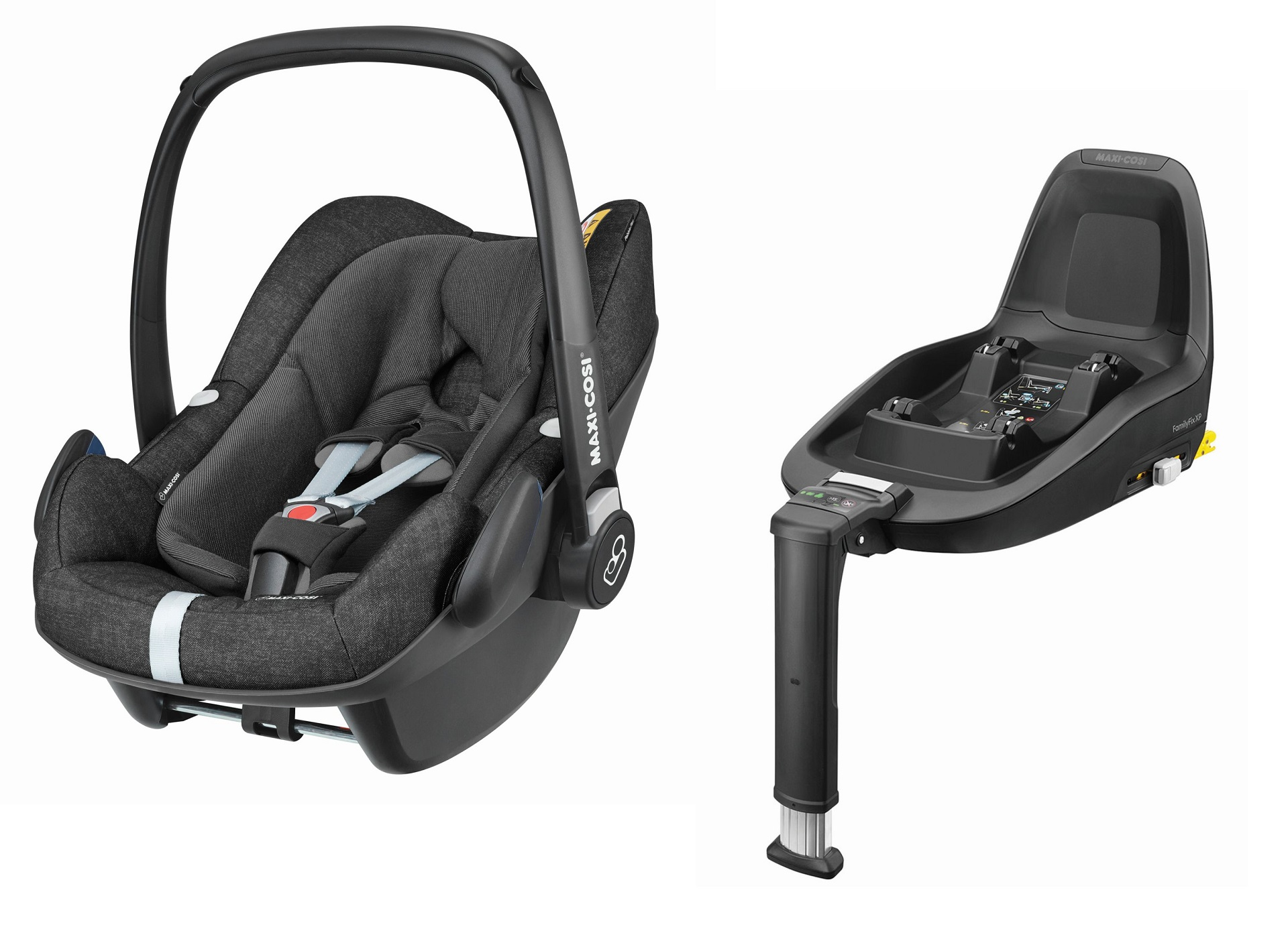 maxi cosi infant car seat pebble plus including 2wayfix 2019 nomad black buy at kidsroom car. Black Bedroom Furniture Sets. Home Design Ideas