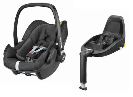 Maxi-Cosi Infant Car Seat Pebble Plus including 2WayFix Nomad Black 2019 - large image