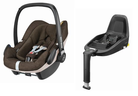 Maxi-Cosi Infant Car Seat Pebble Plus including 2WayFix Nomad Brown 2018 - large image