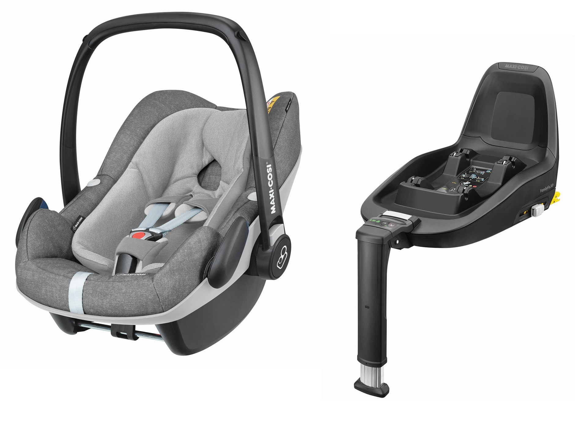 maxi cosi infant car seat pebble plus including 2wayfix 2019 nomad grey buy at kidsroom car. Black Bedroom Furniture Sets. Home Design Ideas