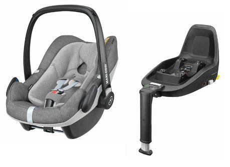 maxi cosi infant car seat pebble plus including 2wayfix 2018 nomad grey buy at kidsroom car. Black Bedroom Furniture Sets. Home Design Ideas