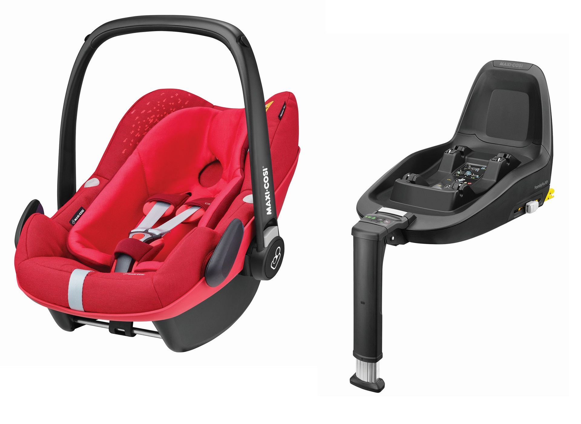maxi cosi infant car seat pebble plus including 2wayfix 2018 vivid red buy at kidsroom car seats. Black Bedroom Furniture Sets. Home Design Ideas