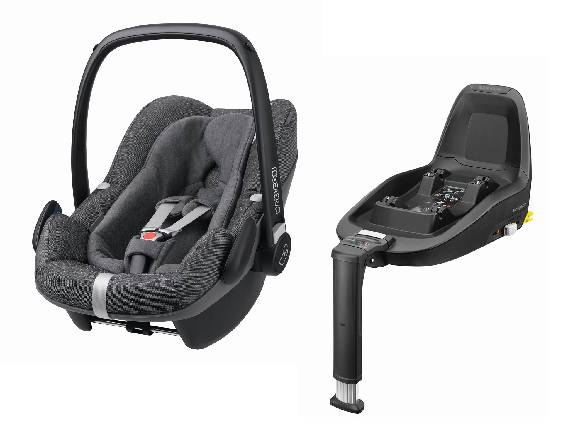 maxi cosi infant carrier pebble plus incl 2wayfix 2018 sparkling grey buy at kidsroom car seats. Black Bedroom Furniture Sets. Home Design Ideas