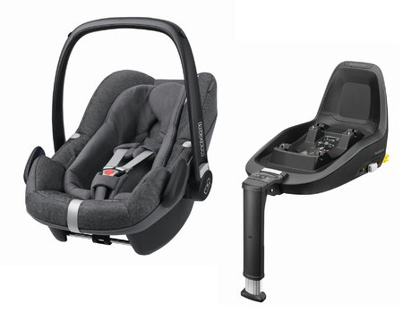 Maxi-Cosi Infant Car Seat Pebble Plus including 2WayFix Sparkling Grey 2019 - large image