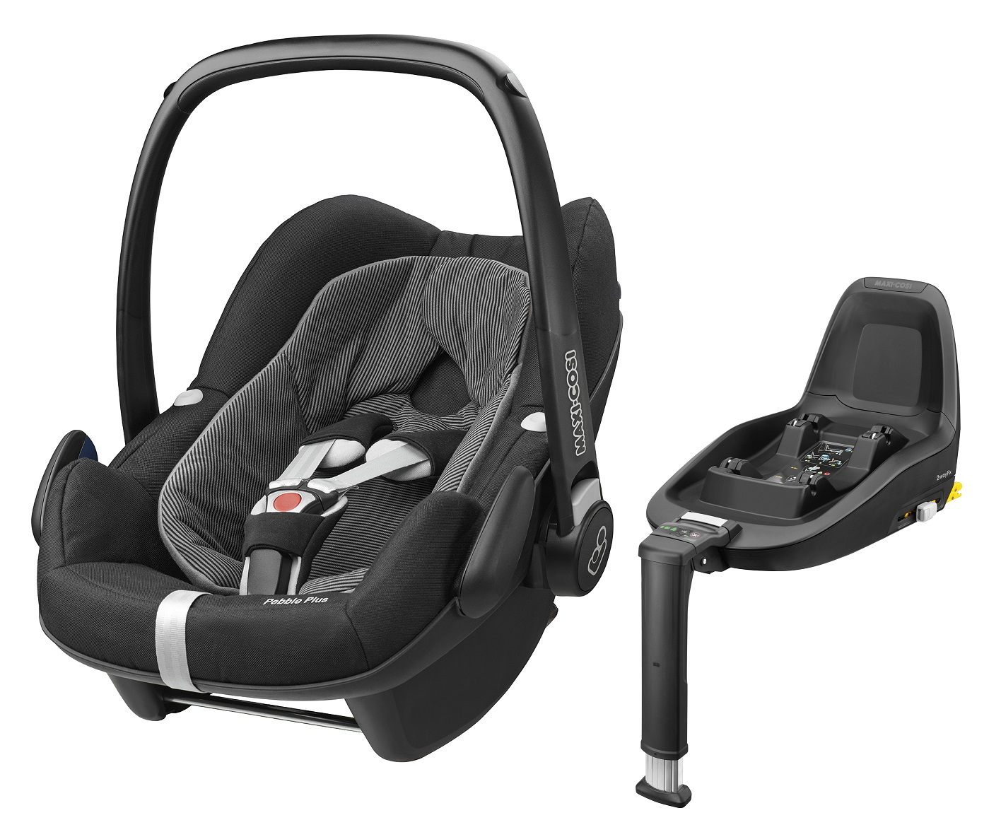 maxi cosi infant carrier pebble plus incl 2wayfix 2017 black raven buy at kidsroom car seats. Black Bedroom Furniture Sets. Home Design Ideas