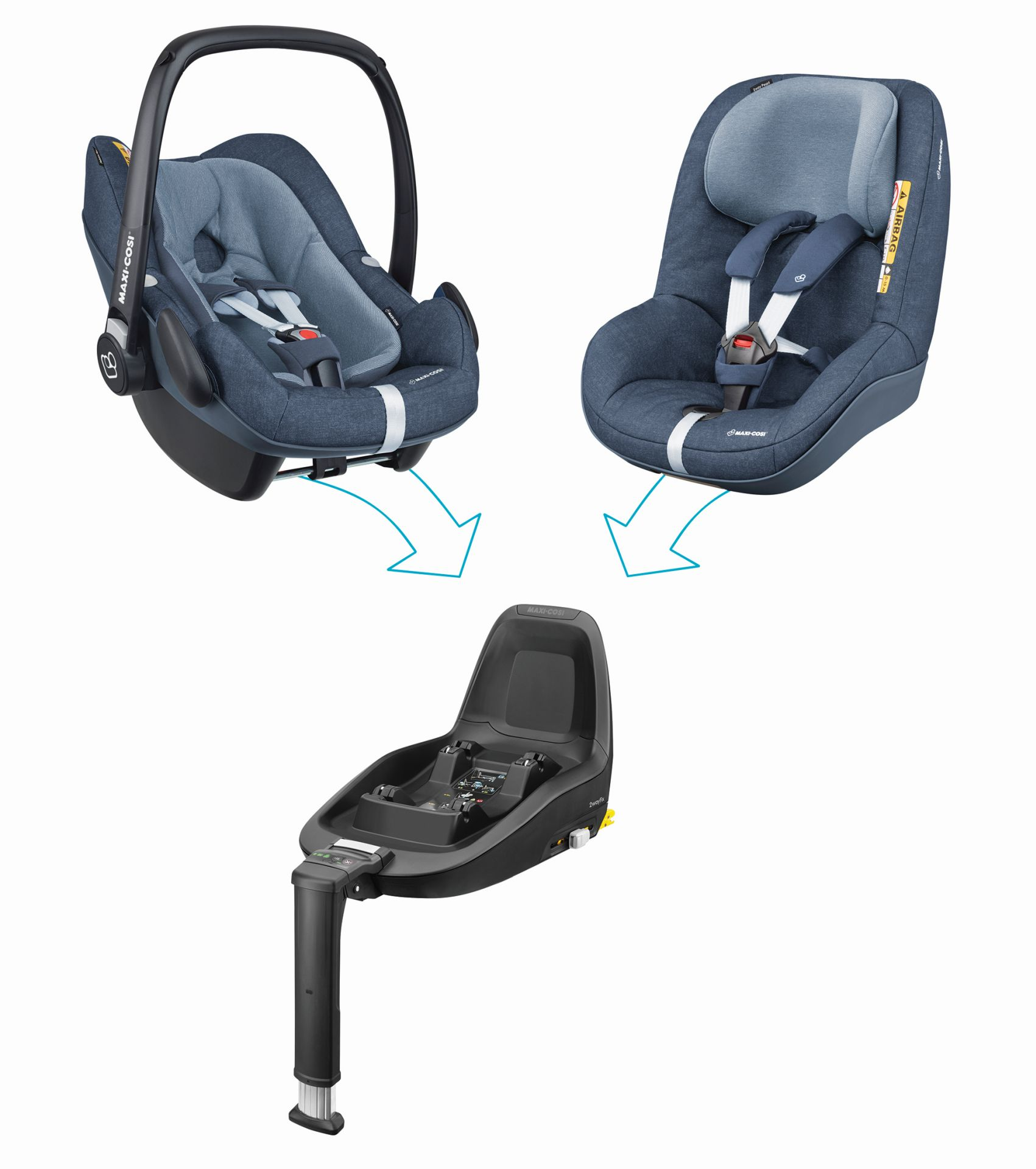 Maxi cosi 2way family concept 2018 nomad blue buy at for Maxi cosi housse