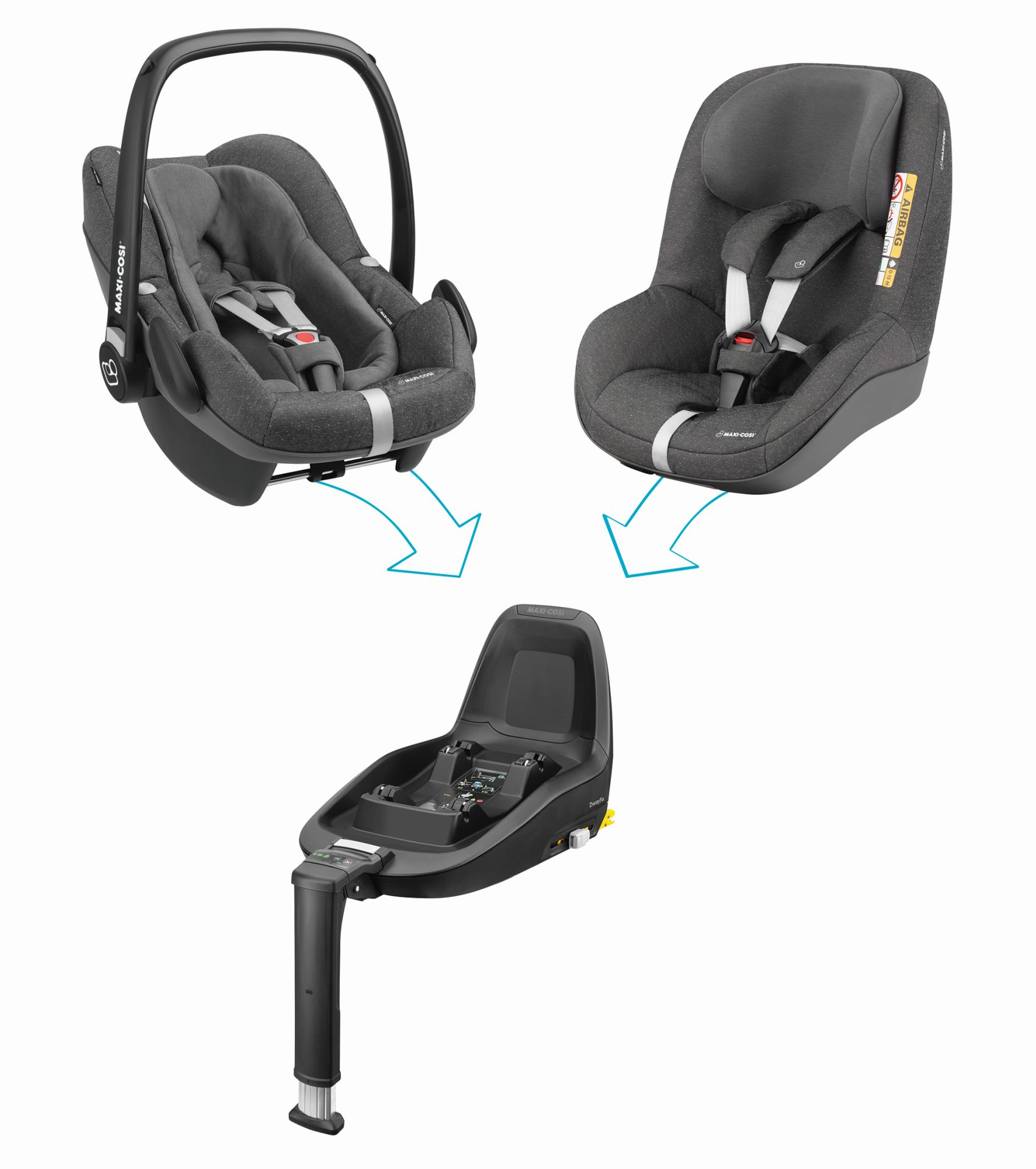maxi cosi 2way family concept 2018 sparkling grey buy at kidsroom car seats. Black Bedroom Furniture Sets. Home Design Ideas