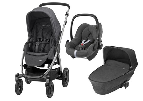 Maxi-Cosi Stella incl. Carrycot and Infant Car Seat Pebble Sparkling Grey 2017 - large image