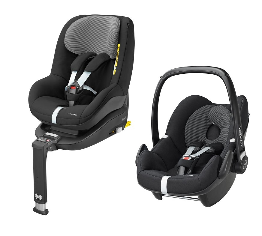 maxi cosi pebble incl 2way pearl and 2way fix base 2017 black raven buy at kidsroom car seats. Black Bedroom Furniture Sets. Home Design Ideas