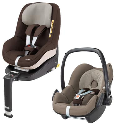 Maxi-Cosi Pebble incl. 2Way Pearl and 2Way Fix Base Earth Brown 2017 - large image
