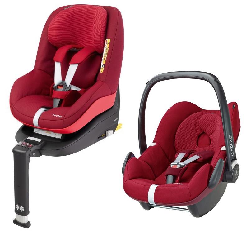 maxi cosi pebble incl 2way pearl and 2way fix base 2017 robin red buy at kidsroom car seats. Black Bedroom Furniture Sets. Home Design Ideas