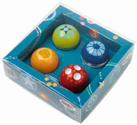 Haba Discovery Balls, Set of 4 - * Haba disocvery balls, set of 4 – A great addition to the Haba tracks.