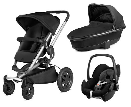 Quinny Buzz Xtra inkl. Kinderwagenaufsatz + Maxi Cosi Pebble Rocking Black 2016 - large image