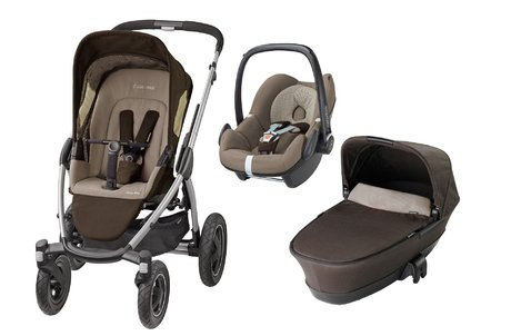 Maxi-Cosi Mura Plus incl. carrycot attachment + infant carrier Pebble Earth Brown 2016 - large image