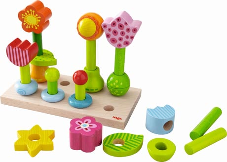 "Haba Pegging Game ""Flower Garden"" - * Haba pegging game flower garden – This game is fun and supports the fine motor skills."
