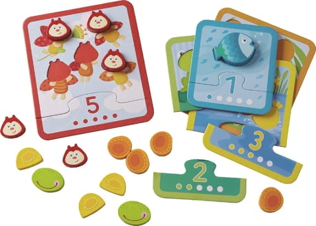 "Haba Matching Game ""Counting Animals"" - * Haba matching game ""Animal Counting"" – Getting to know numbers and amounts to 5."