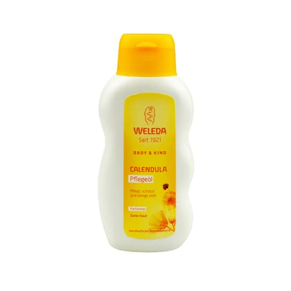 Weleda Calendula Caring Oil, perfume-free, 200 ml - * Weleda Calendula maintenance oil unscented, 200ml – The unscented maintenance oil is perfect for your baby's daily skin care.