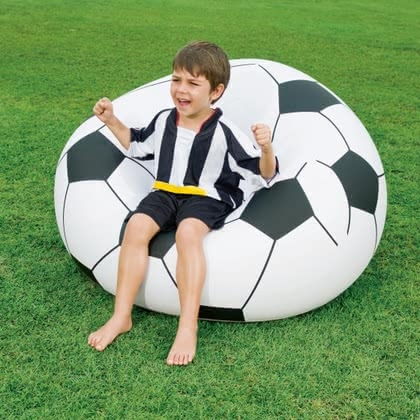 Foot ball chair, inflatable - large image
