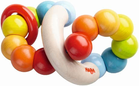 "Haba Clutching Toy ""Colour Ringlet"" - * Haba clutching toy ""Color Whorl"" – This toy will brighten your child's eyes."