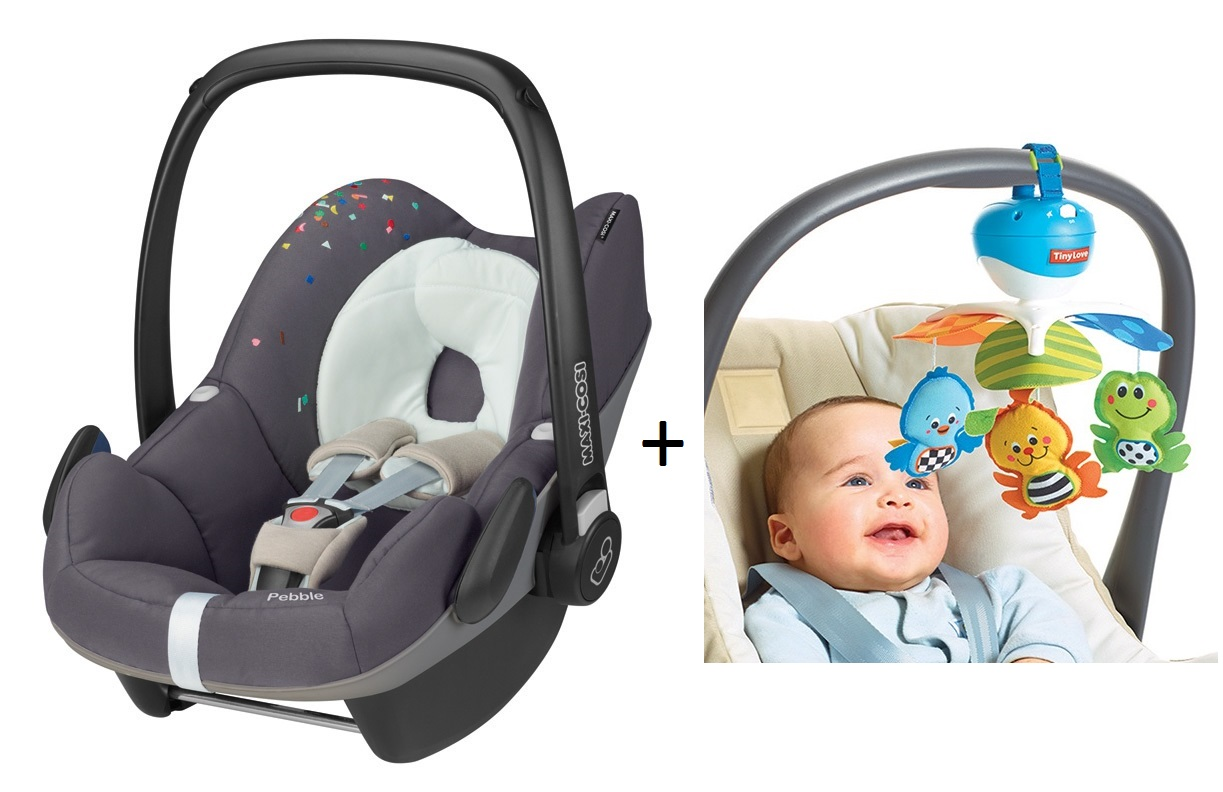 maxi cosi infant carrier confetti incl tiny love take along mobile 2016 buy at kidsroom car. Black Bedroom Furniture Sets. Home Design Ideas