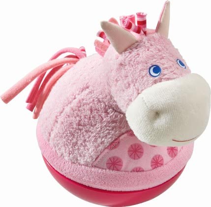 "Haba Roly-Poly Toy ""Horse"" - * Haba roly-poly horse – Sounds happy and nudging when pushing it."