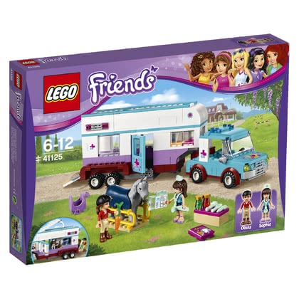 LEGO Friends horse trailer with accessories and veterinary 2016 - large image