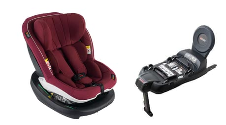 BeSafe Child Car Seat iZi Modular including i-Size Base Burgundy Mélange 2019 - large image