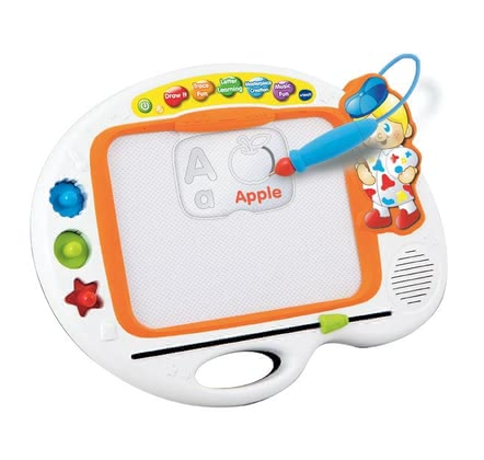 Vtech ABC Write and Draw Learning Board - * Support your child's creativity with the stamps, stencils and a music card by VTech on the ABC painting board.
