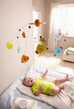 "Haba Mobile ""Little Birdies"" - * Haba mobile Little birds – This mobile is a cute decoration for your baby's room."