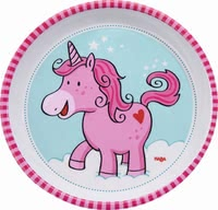 Haba Plate Unicorn Glitterluck - * The cute little plate will be perfect for your little one.