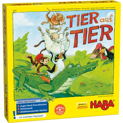 Haba Stacking Game Animal upon Animal - Here We Turn! - * A great game to get your child learn patience. Suitable for the age at 5.