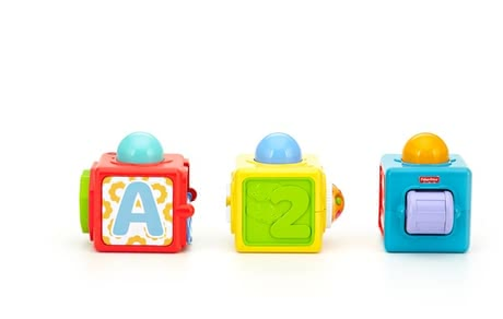 Fisher-Price Stacking Action Blocks - * Fisher-Price gaming and stacking cubes – Learning and playing at the same time with this great game by Fisher-Price.
