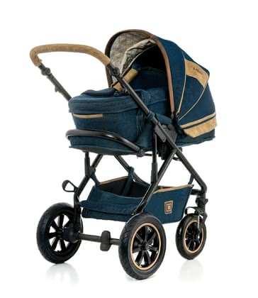 Moon Multi-Functional Stroller Lusso Denim Special with Carrycot 2017 - large image