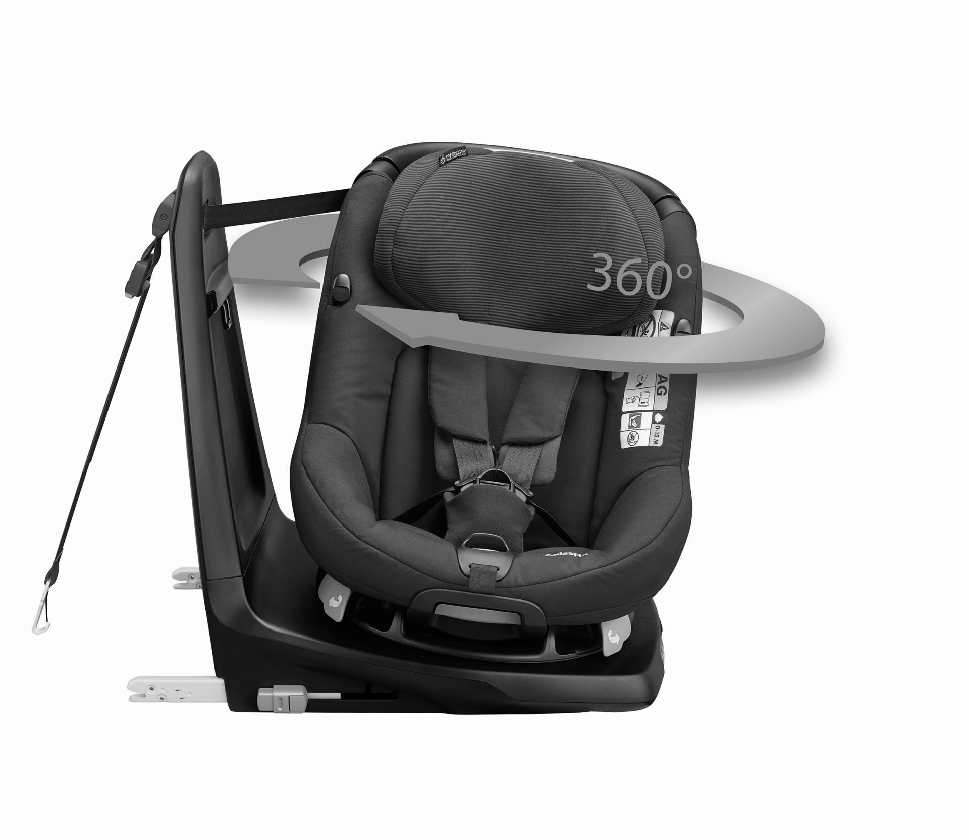 maxi cosi axissfix car seat i size 2017 sparkling grey. Black Bedroom Furniture Sets. Home Design Ideas