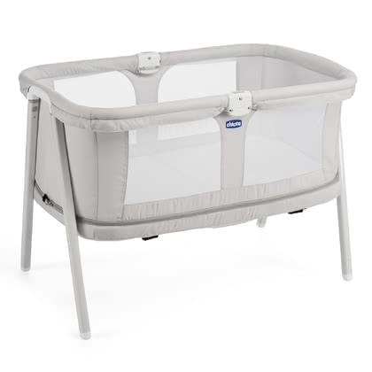 Chicco travel cot LullaGo Zip Light Grey 2017 - large image