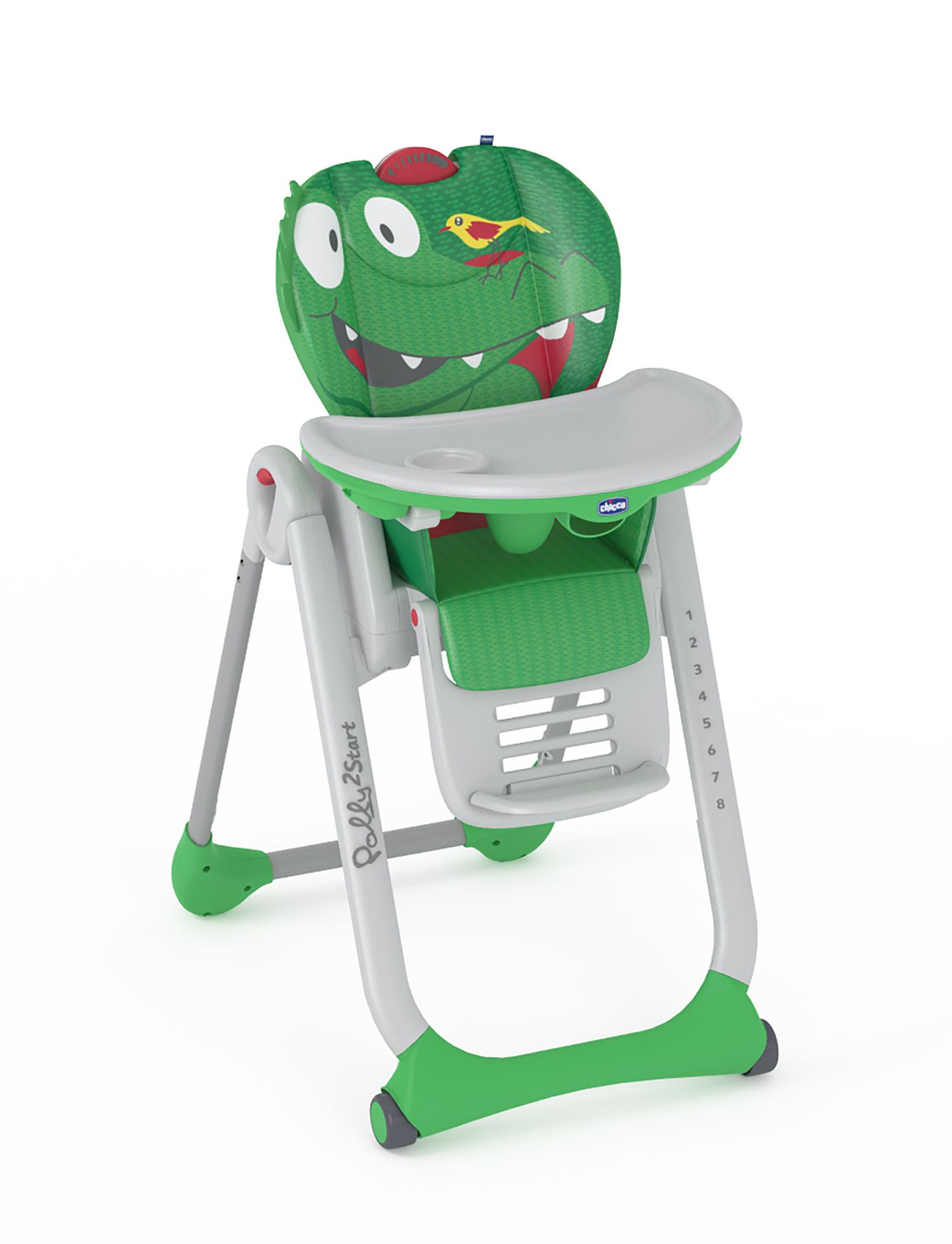 Elegant Chicco Highchair Polly 2 Start Crocodile 2017   Large Image 1 ...