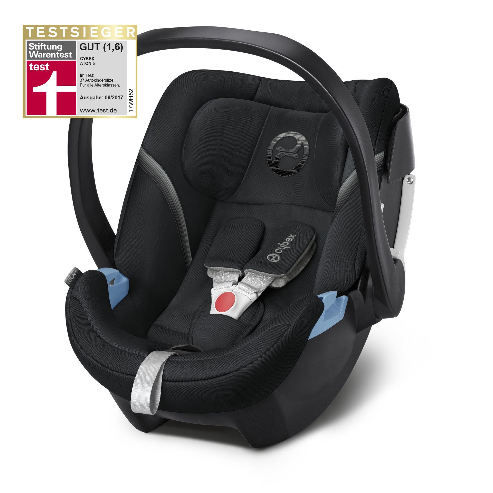 Cybex Infant Car Seat Aton 5 Lavastone Black