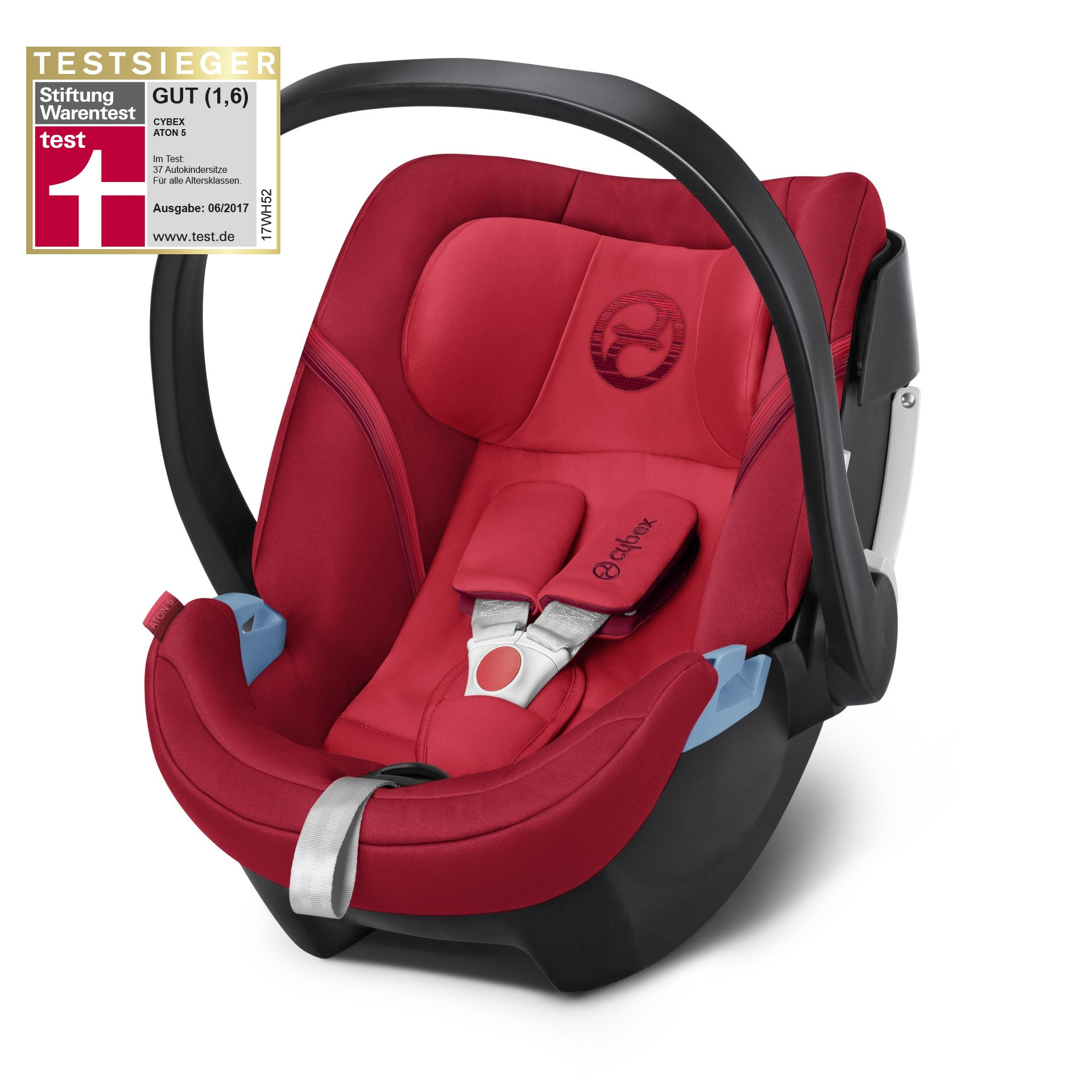 Cybex Infant Car Seat Aton 5 Rebel Red