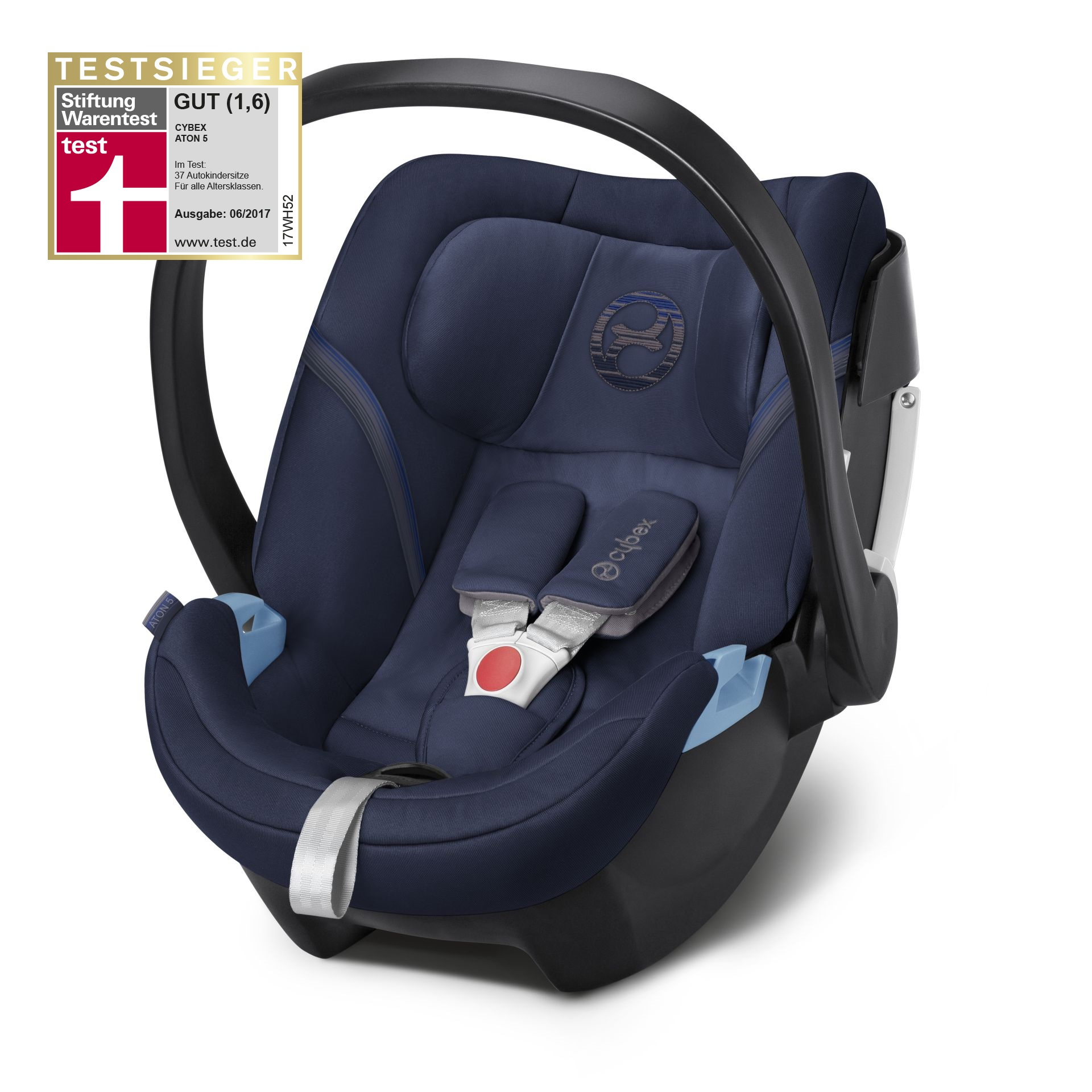 Cybex Infant Car Seat Aton 5 Denim Blue - blue 2018 - large image 1 ...  sc 1 st  Baby products online store - worldwide shipping & Cybex Infant Car Seat Aton 5 2018 Denim Blue - blue - Buy at ...