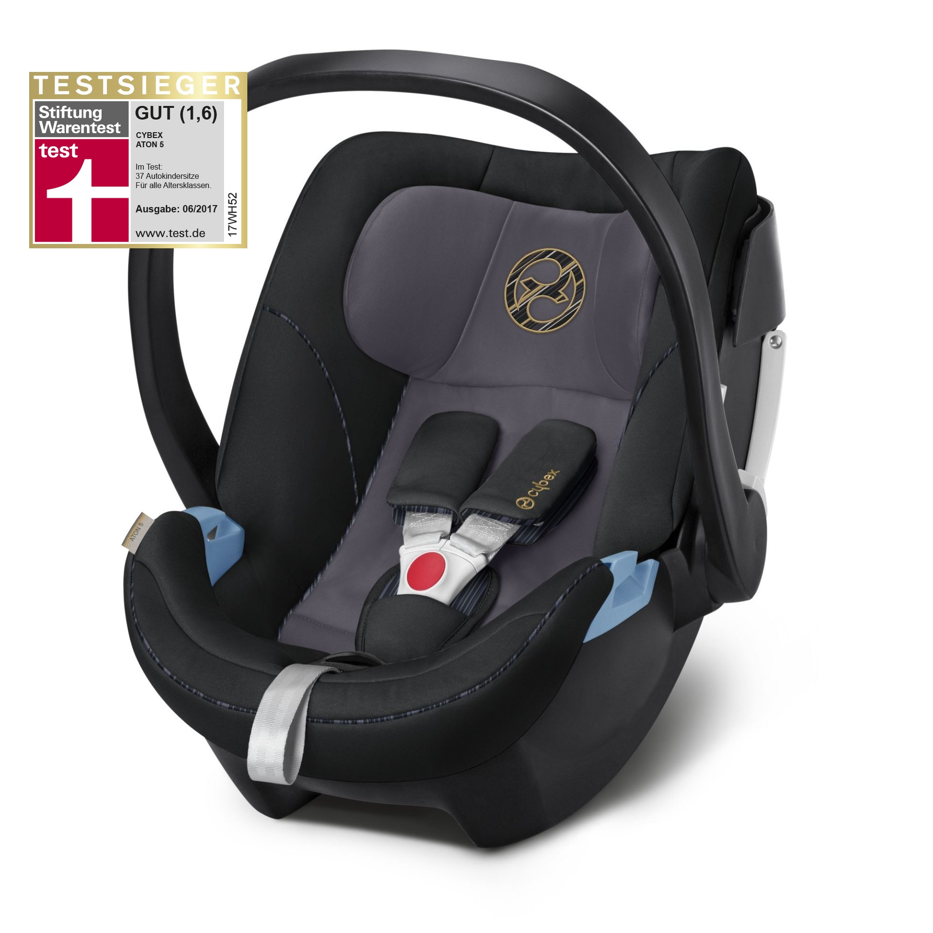 cybex infant car seat aton 5 2019 premium black black. Black Bedroom Furniture Sets. Home Design Ideas