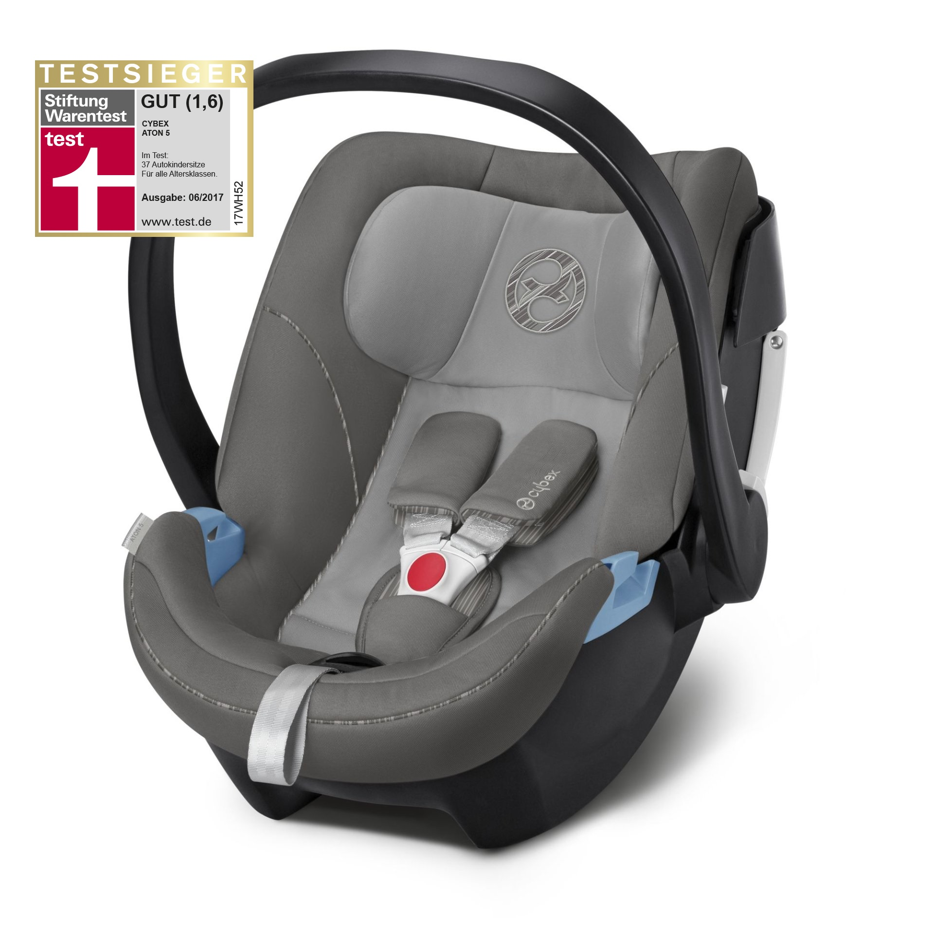 cybex infant car seat aton 5 2019 manhattan grey mid. Black Bedroom Furniture Sets. Home Design Ideas