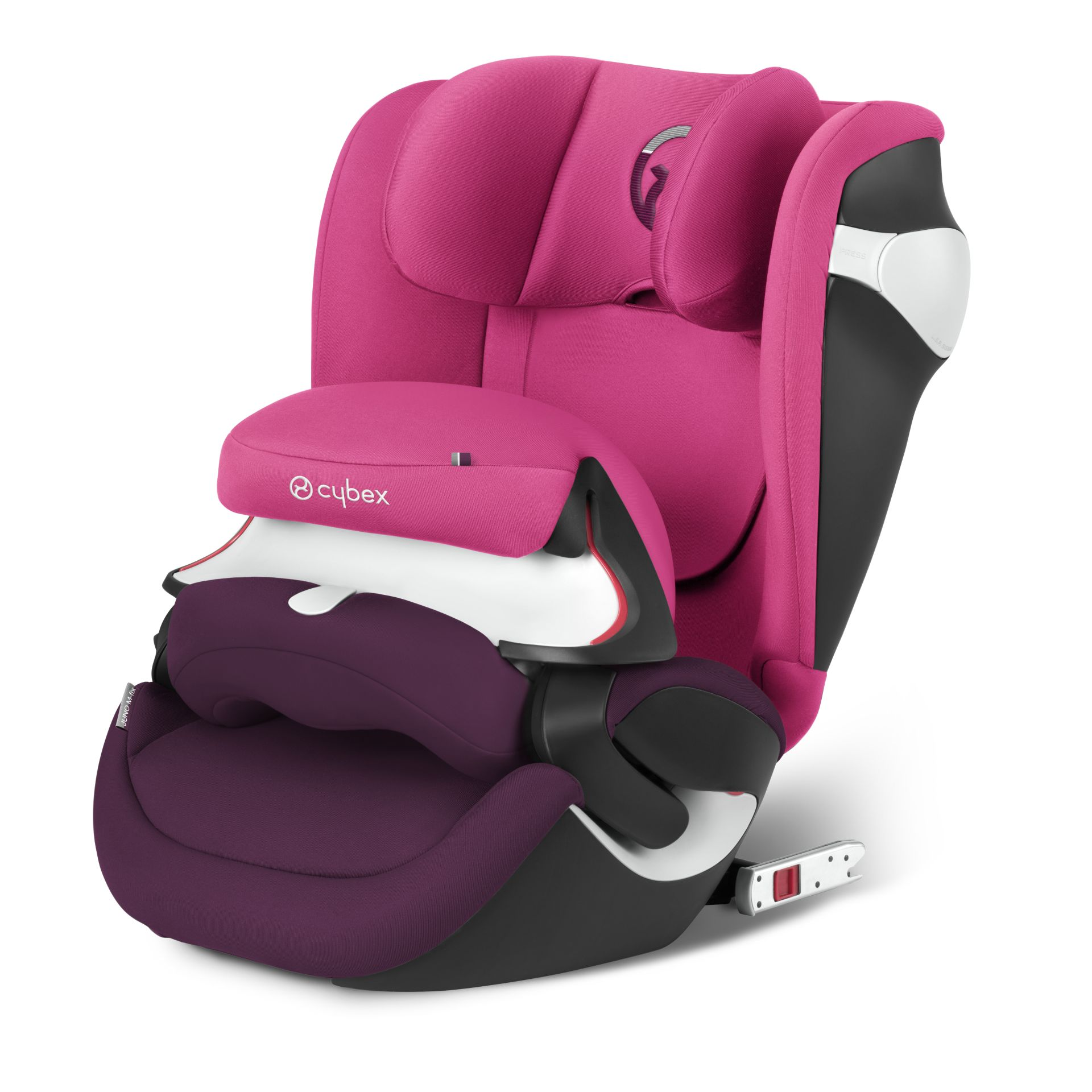 cybex car seat juno m fix 2017 mystic pink purple buy at kidsroom brand shops cybex. Black Bedroom Furniture Sets. Home Design Ideas